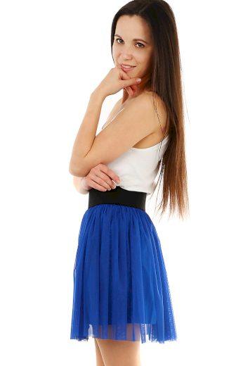 Krátká tylová dámská sukně