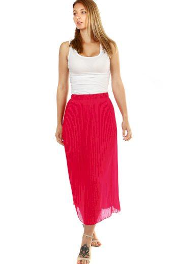 Dámská jednobarevná plisovaná sukně