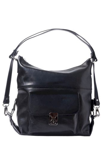Dámská kabelka z pravé kůže s kapsou 2 v 1