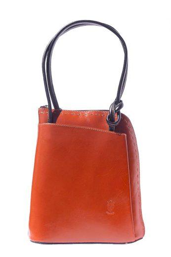 Dámská kabelka - batoh z pravé kůže s uzlem 3 v 1