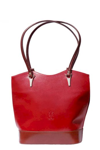 Dámská kožená kabelka - batoh do města 3 v 1