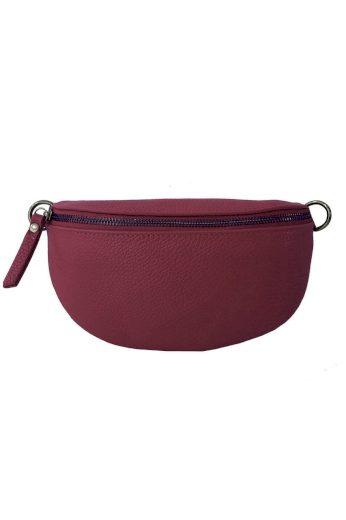 Ledvinková kabelka z pravé kůže