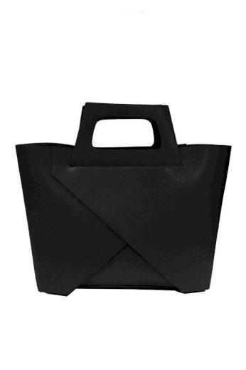 Překládáná kožená kabelka