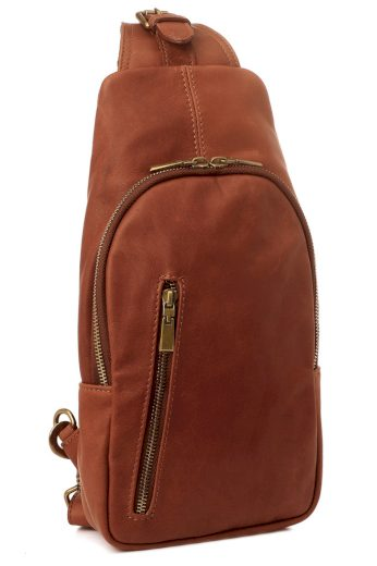 Crossbody kabelka z pravé kůže - ledvinka