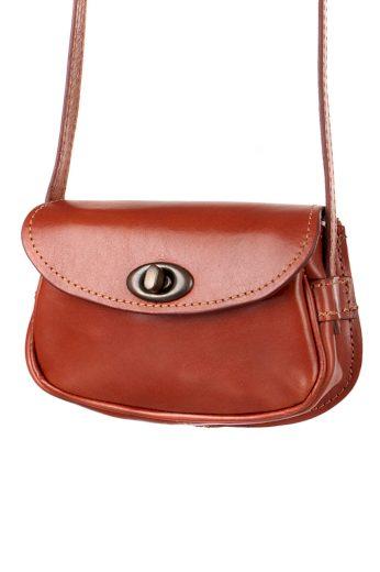 Malá kožená kabelka listonoška