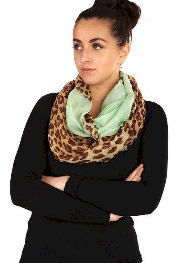 Dvoubarevný šátek se zvířecím vzorem