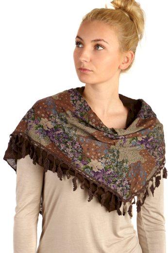 Šátek s květinovým vzorem