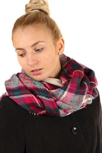 Kostkovaný maxi šátek