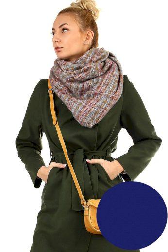 Kostkovaný hřejivý maxi šátek