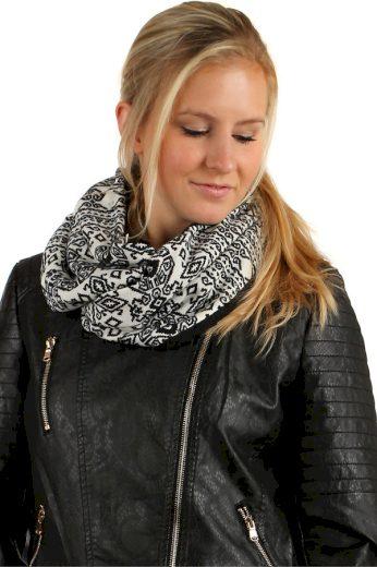 Nádherný oboustranný šátek s kožíškem