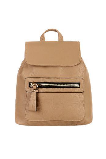 Dámský koženkový batoh s výrazným zipem