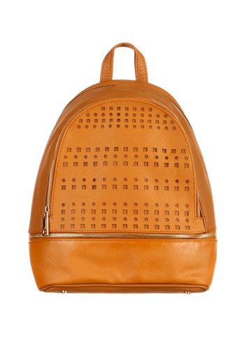 Dámský elegantní koženkový batoh s perforováním