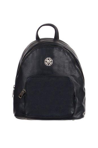Dámský elegantní koženkový batoh s přední kapsou do města