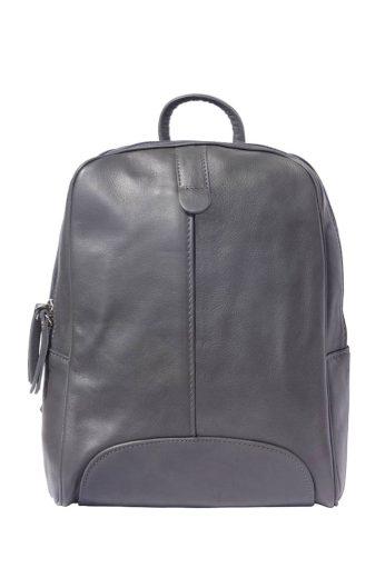 Dámský městský kožený batoh s podélnou kapsou