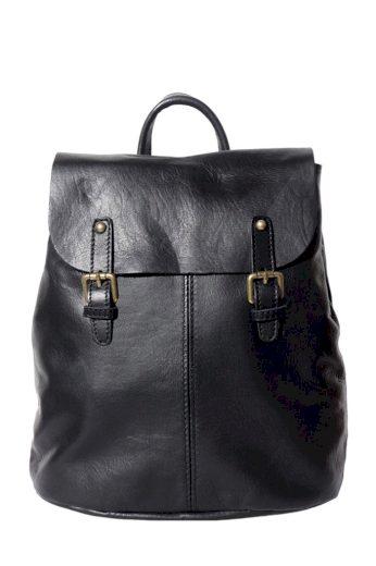 Dámský batoh z pravé kůže se dvěma přezkami