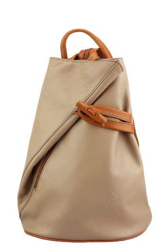 Dámský městský batoh z pravé kůže 3 v 1