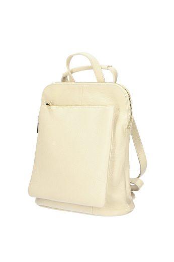 Městský kožený batoh - kabelka v jednom
