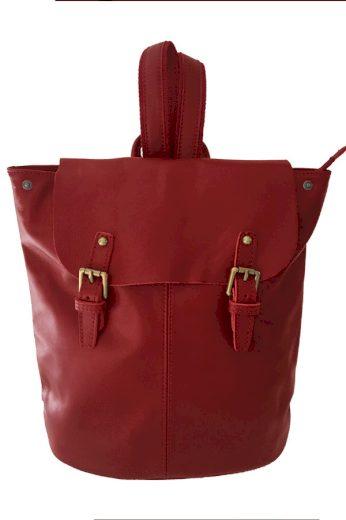 Dámský jednobarevný kožený batoh
