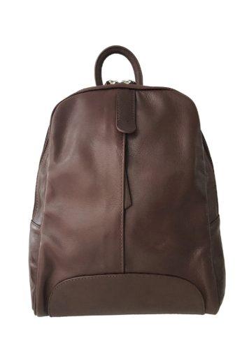 Městský kožený jednobarevný batoh
