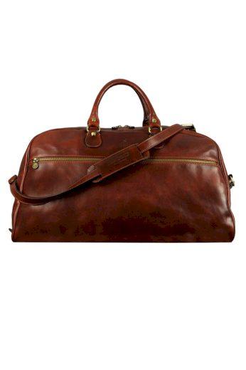 Velká kožená cestovní taška Time Resistance