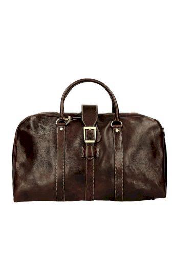 Nadčasová kožená cestovní taška