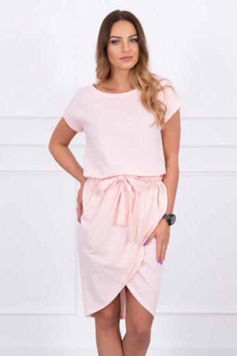 Bavlněné dámské šaty s páskem