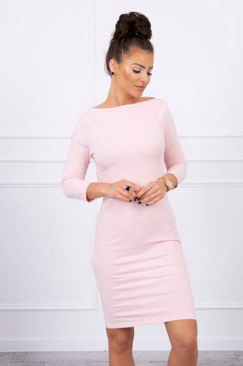 Jednobarevné dámské bavlněné šaty