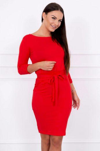 Jednobarevné dámské šaty s rukávem