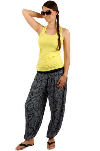 Dámské vzorované harémové kalhoty bez kapes