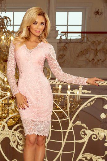 Elegantní krajkové večerní šaty