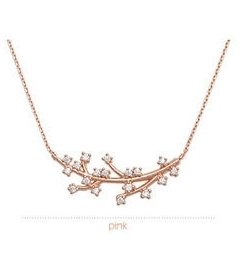 Minimalistický náhrdelník listy