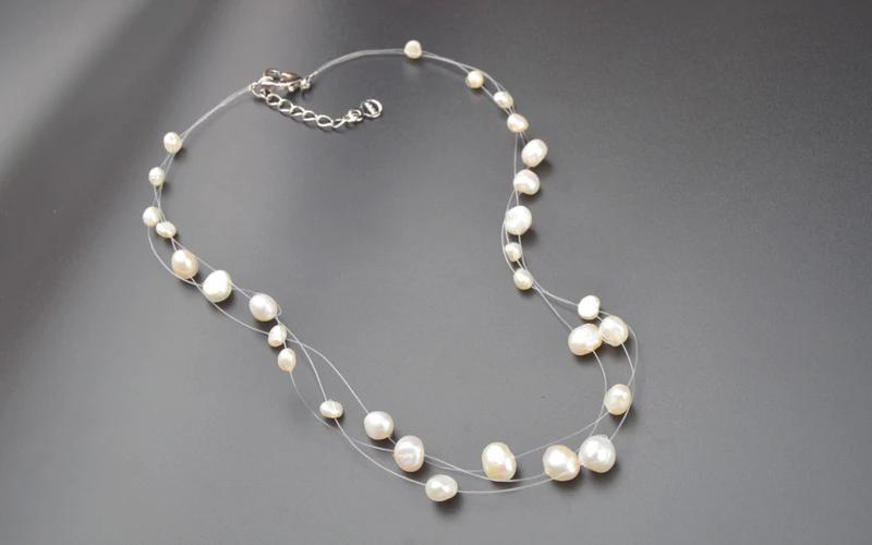 Perličky na vlasce bílé barvy