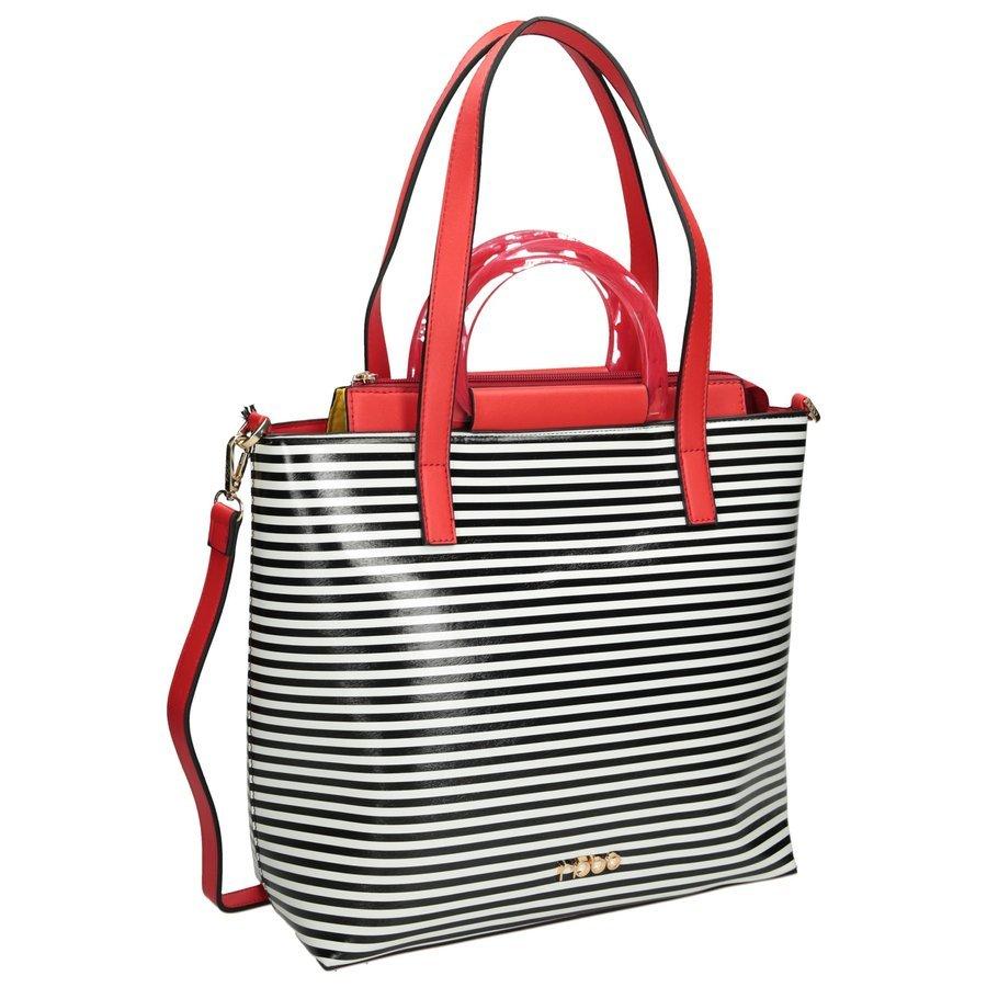 Dámská kožená kabelka NOBO shopper taška pruhovaná