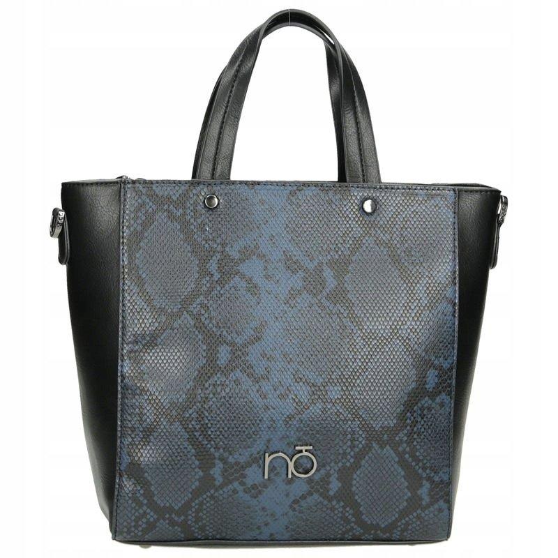 Dámská Shopper kabelka vzor hadí kůže taška NOBO