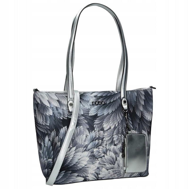 Textilní kabelka shopper taška s květinovým potiskem NOBO