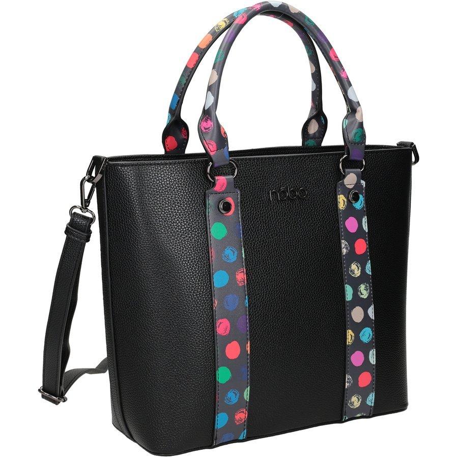 Prostorná, velká dámská taška s barevnými uchy - Nobo