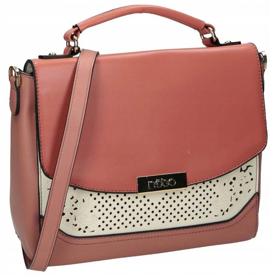 Elegantní kabelka malá listonoška pošťácká taška ažurová NOBO