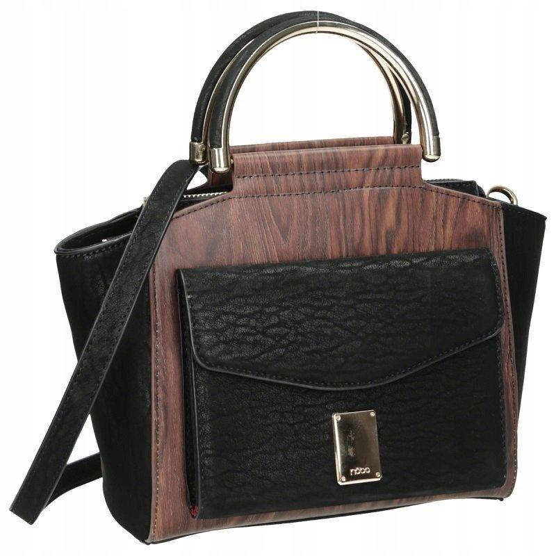 Dámská shopper kabelka dřevěný vzor NOBO