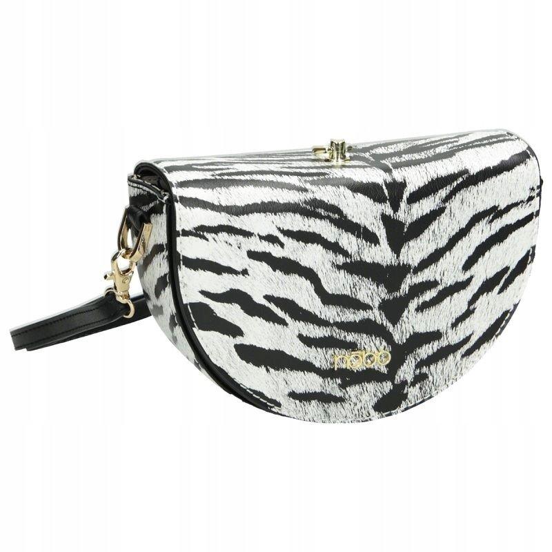 Malá kulatá taška půlměsíc kabelka vzor tygřích pruhů Nobo