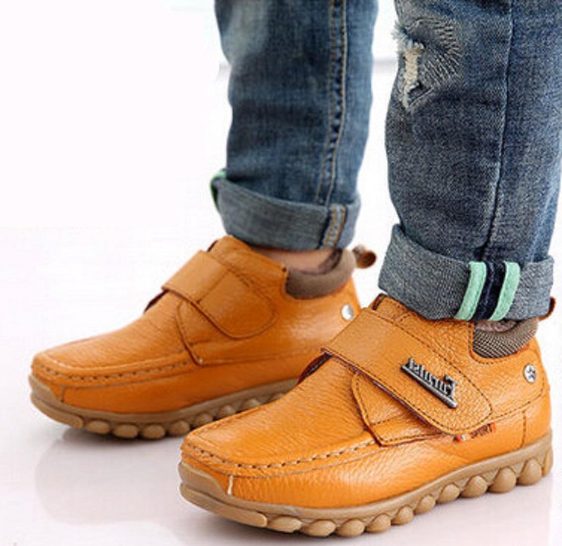 Chlapecké zimní kožené boty FashionEU