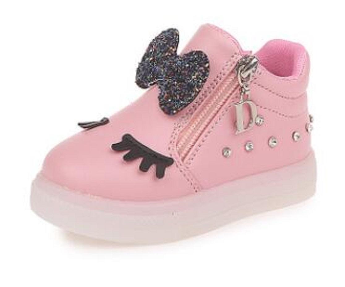 Dívčí svítící boty s mašlí FashionEU