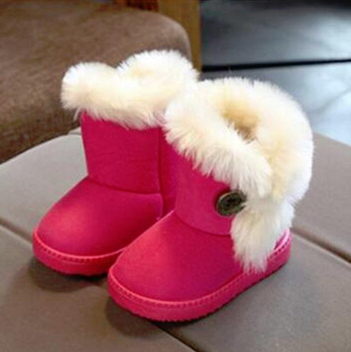 Dívčí zimní válenky s kožíškem FashionEU