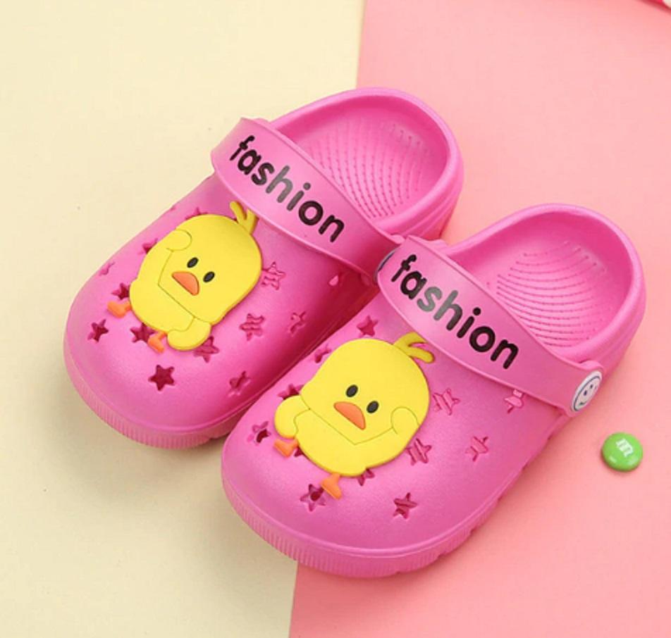 Dětské gumové pantofle s kuřátkem FashionEU