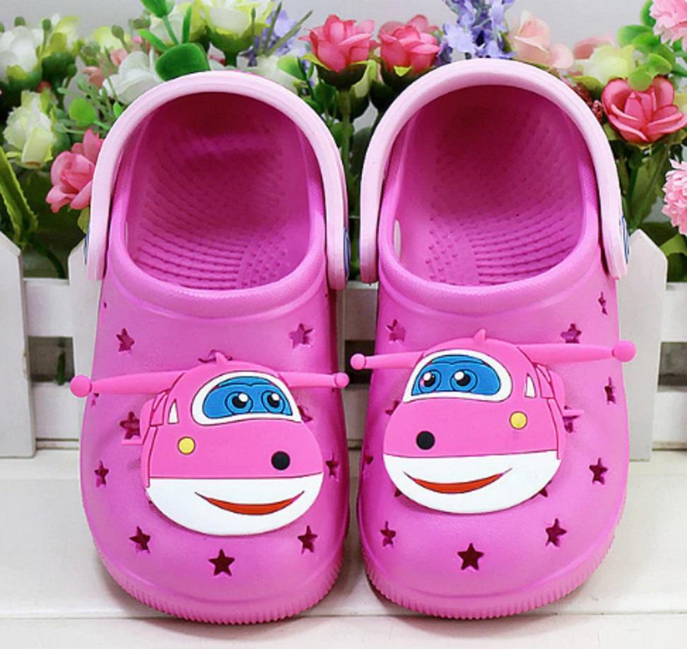 Dětské gumové pantofle s letadlem FashionEU