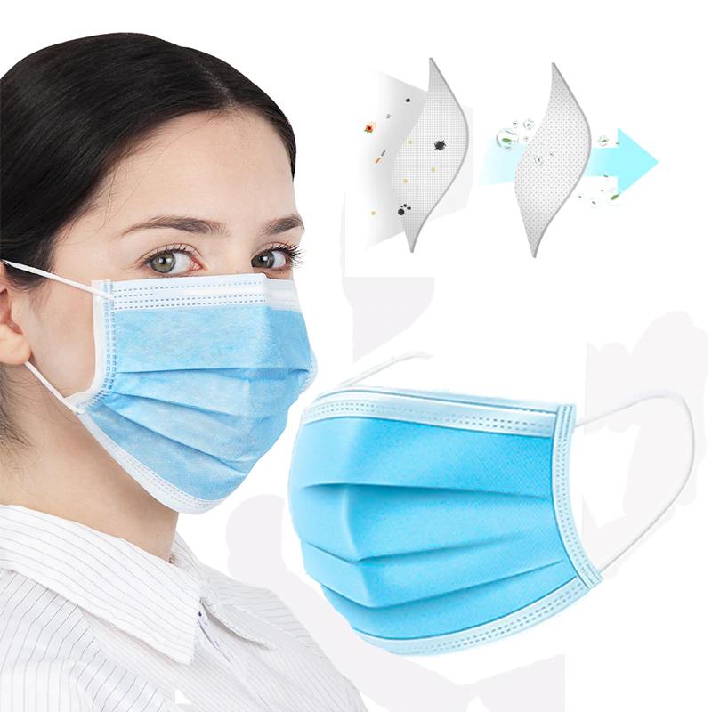 Chirurgická Rouška 3 vrstvá ústnenka z netkané textilie proti virům
