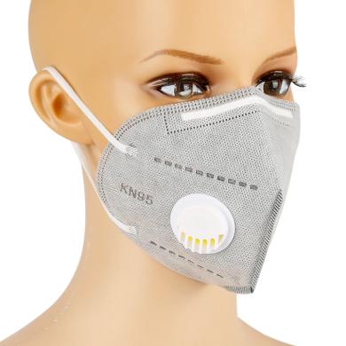 Respirační rouška s filtrem KN95 Solight respirátor s ventilem FFP2