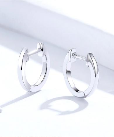 Stříbrné náušnice elegantní pozlacené kroužky AG 9251000