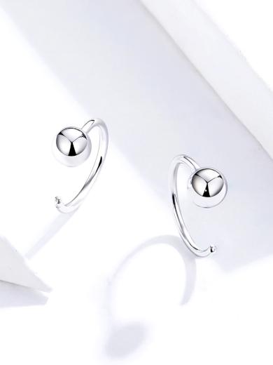 Stříbrné elegantní náušnice minimalistické Stříbro ryzost Ag 9251000