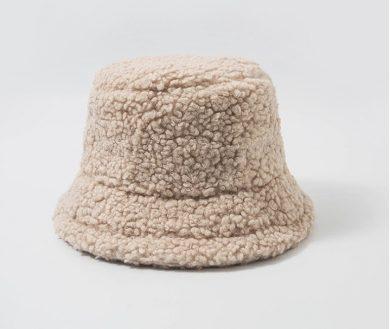 Dámský barevný klobouk imitace ovčí vlny klobouk na zimu