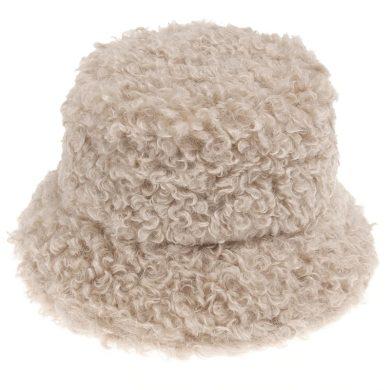 Dámský klobouk na zimu imitace ovčí vlny